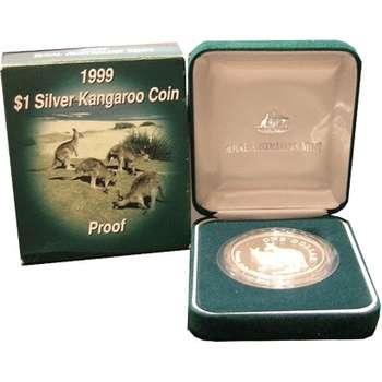 1 oz 1999 $1 Silver Kangaroo (Proof Strike)