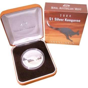 1 oz 2004 $1 Silver Kangaroo (Proof Strike)