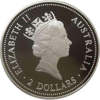 2 oz 1995 Australian Kookaburra Silver Bullion Coin (Proof Strike)