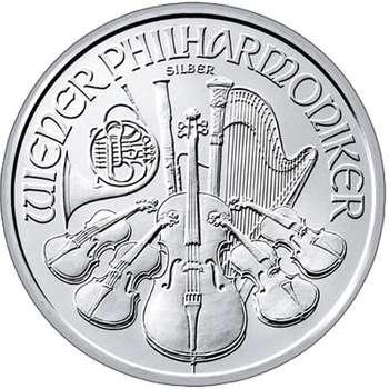 1 oz Austrian Philharmonic Silver Bullion Coin - Mixed Dates