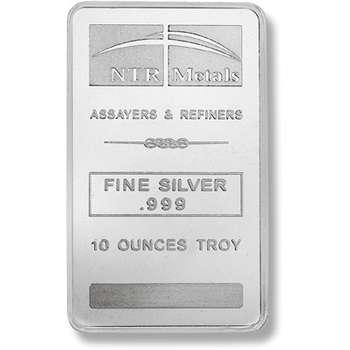 10 oz NTR Metals Minted Silver Bullion Bars