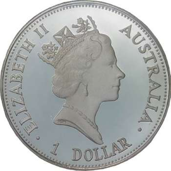 1oz 1993 Australian Kookaburra Silver Bullion Coin - Proof stike