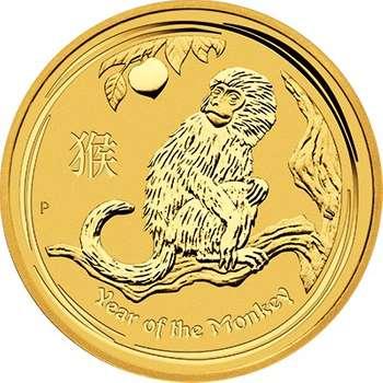 1 oz 2016 Australian Lunar Year of the Monkey Gold Bullion Coin