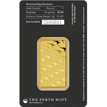 1 oz Perth Mint Gold Bullion Minted Bar