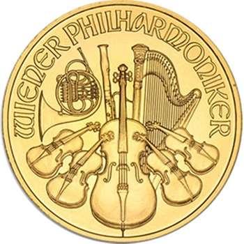 1 oz Austrian Philharmonic Gold Bullion Coin - Mixed Dates