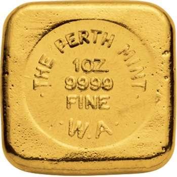 1 oz Perth Mint Gold Bullion Cast Bar