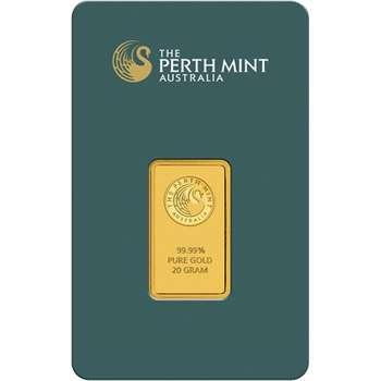 20 g Perth Mint Gold Bullion Minted Bar