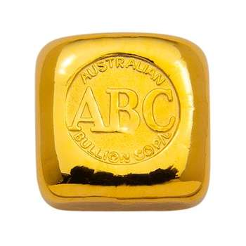 1 oz ABC Gold Bullion Cast Bar