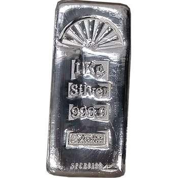 1 kg SPC Cast Silver Bullion Bar