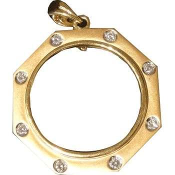 1/4 oz Pendant With Diamonds Gold Coin