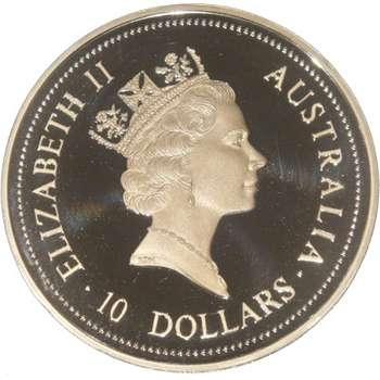 10 oz 1995 Australian Kookaburra Silver Bullion Coin (Proof Strike)