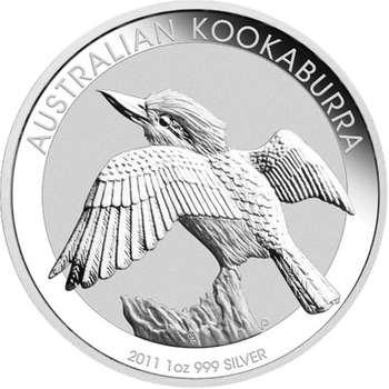 1 oz 2011 Australian Kookaburra Silver Bullion Coin